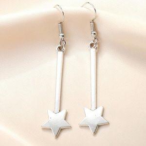 2/$20! Silver Falling Star Drop Earrings